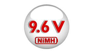 Green NiMH battery, longer-lasting performance