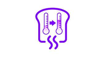 Genopvarmnings-indstillingen opvarmer eller rister brødet yderligere