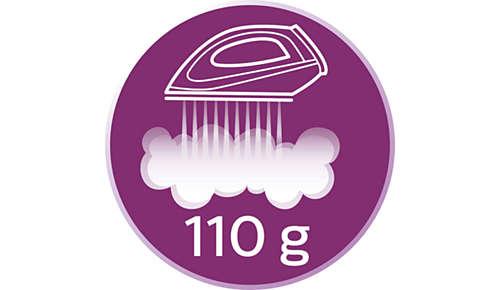Konstante Dampfleistung bis zu 110g/Min