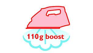 Stoomstoot van 110 g verwijdert moeiteloos de meest hardnekkige kreuken