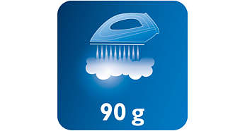 Saída de vapor contínuo até 90 g/min
