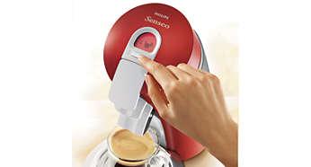 Option de sélection du niveau d'eau pour personnaliser votre café