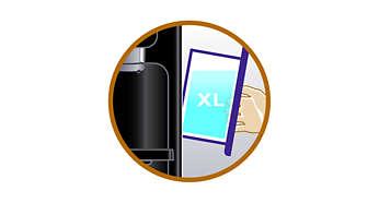 Réservoir d'eau XL amovible pour un remplissage moins fréquent