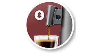 Bec verseur ajustable s'adaptant à votre tasse préférée