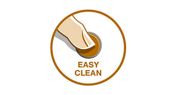 Easy-clean button for comfortable cleaning