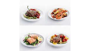 Bardzo gorąca płyta grilla pozwala zachować aromat potraw