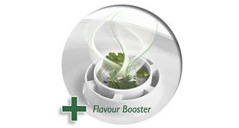 O Flavour Booster dá mais sabor ao alimentos com deliciosas ervas e temperos.