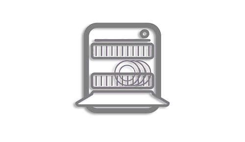 Delar som kan diskas i diskmaskin