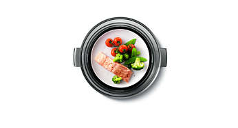 A Melegen tartás funkció tálalásra készen tartja az ételt