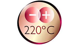 Επαγγελματική υψηλή θερμότητα 220 °C για τέλεια, επαγγελματικά αποτελέσματα