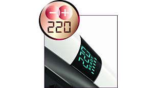 Posiciones de calor digitales para resultados suaves en todo tipo de cabello
