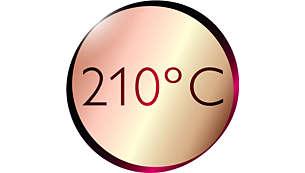 Професионално висока температура 210°C за идеален резултат като от фризьорски салон