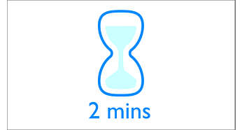Start quickly: less than 2 minutes start-up time