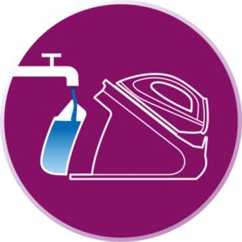 Dopĺňanie zásobníka na vodu kedykoľvek, aj počas žehlenia