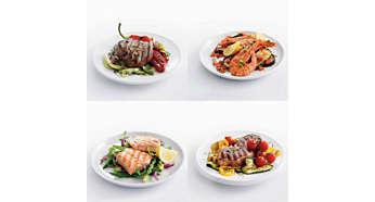 Grillplattor med hög temperatur bevarar all smak