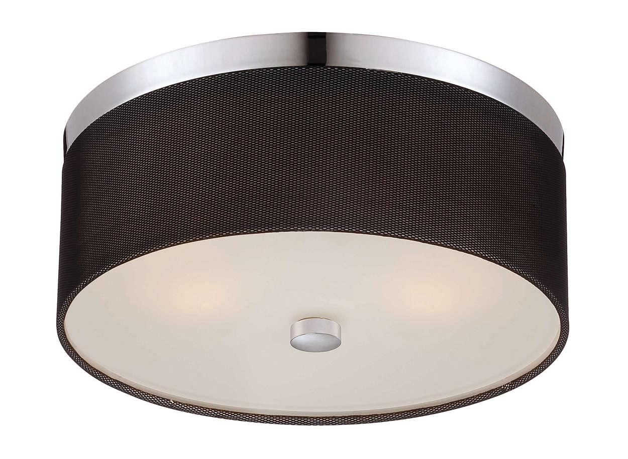 Fishnet 2-light ceiling fixture in Chrome finish