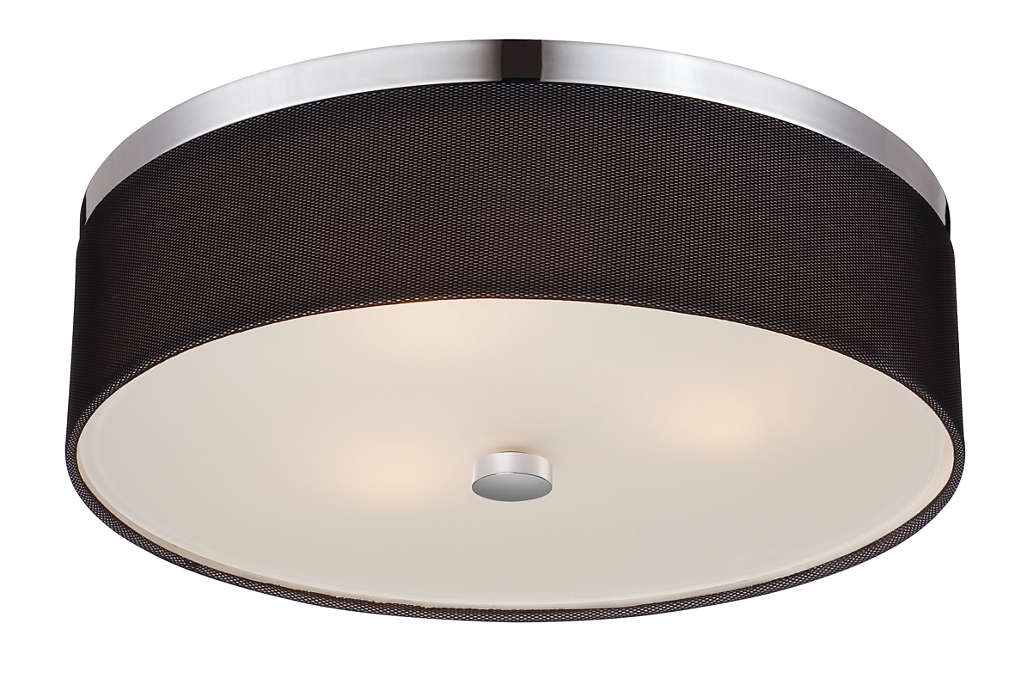 Fishnet 3-light ceiling fixture in Chrome finish