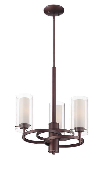 Hula 3-light chandelier in Merlot Bronze finish