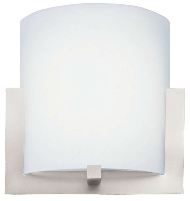 Bow LED wall sconce in Satin Nickel finish