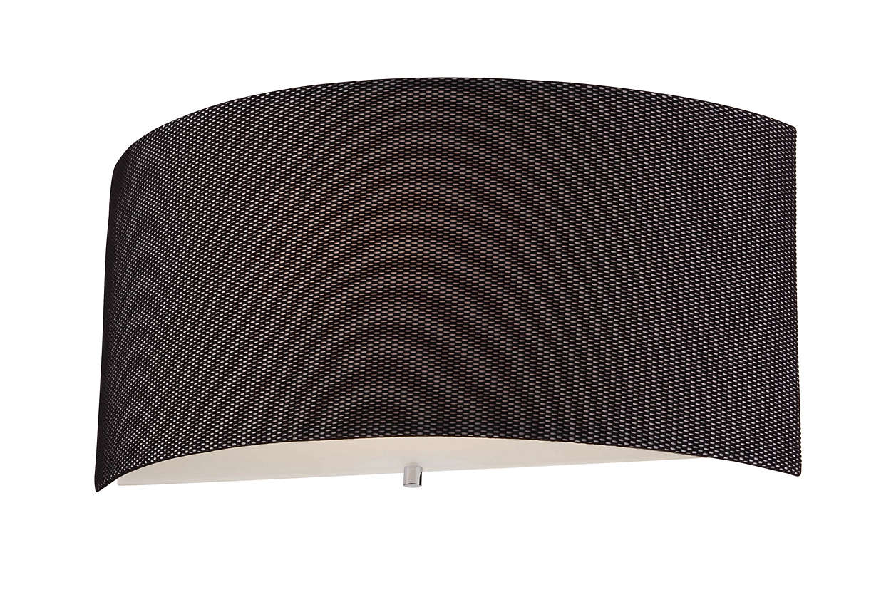 Fishnet 1-light CFL wall sconce in Chrome finish