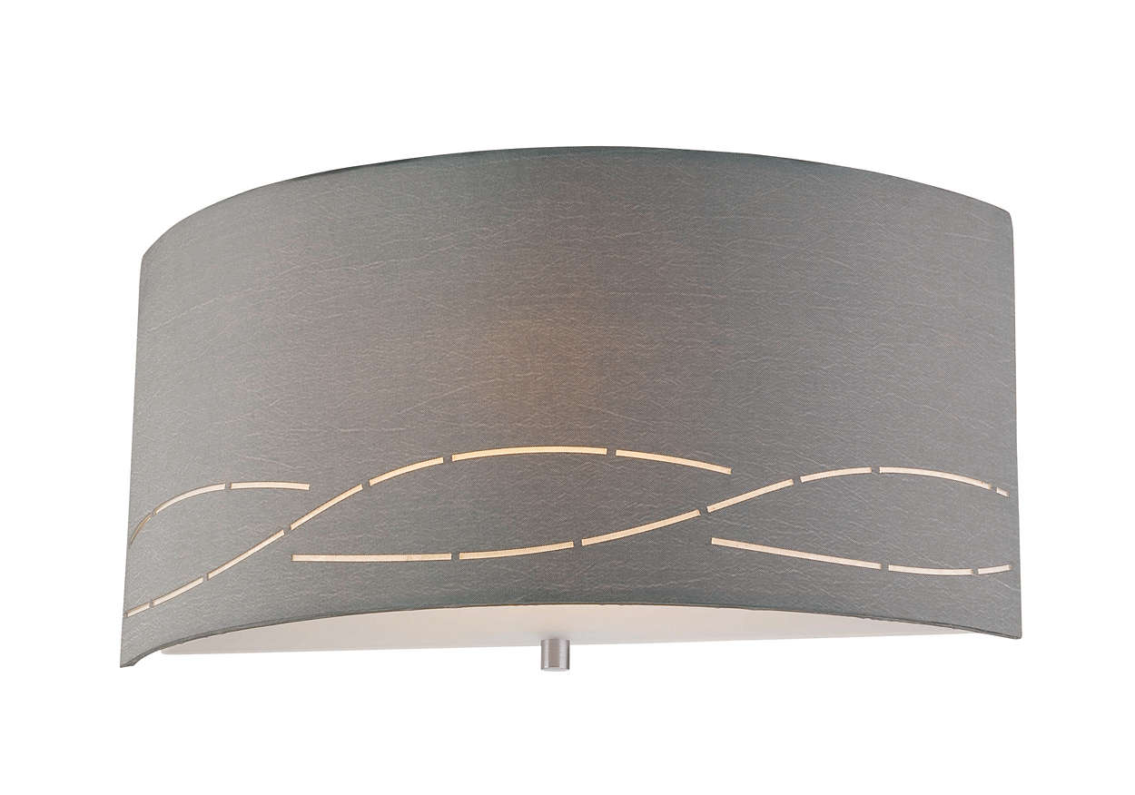 Silver Laser 1-light CFL wall sconce, Satin Nickel
