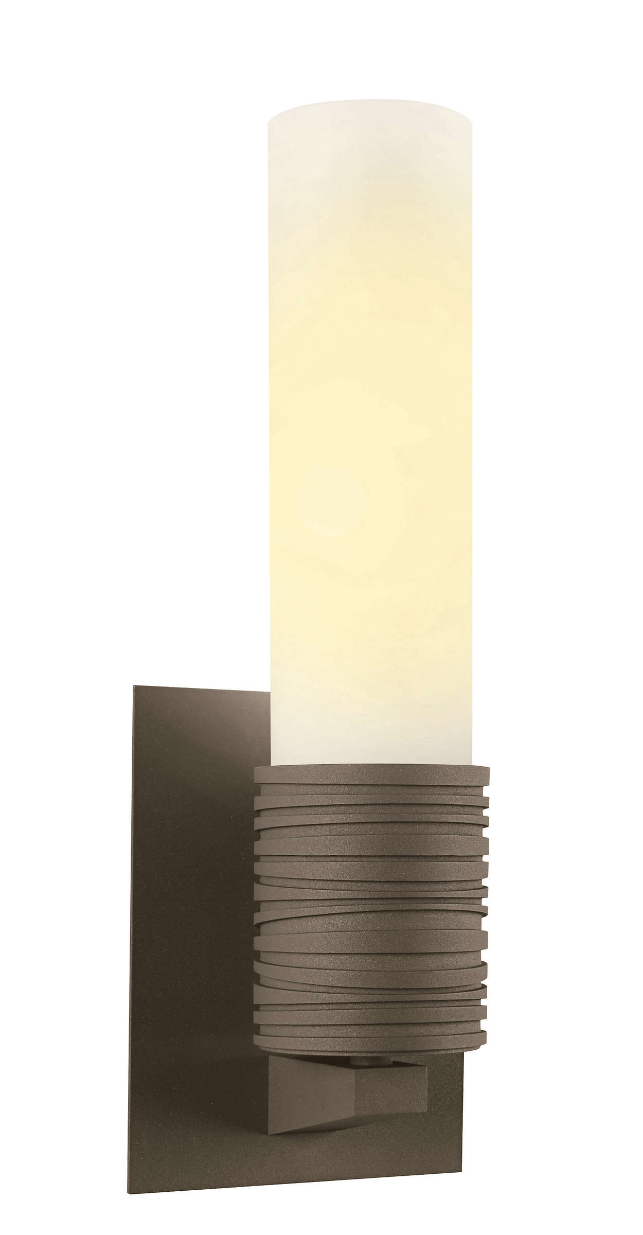 Phoenix 1-light CFL wall sconce, Bronze finish