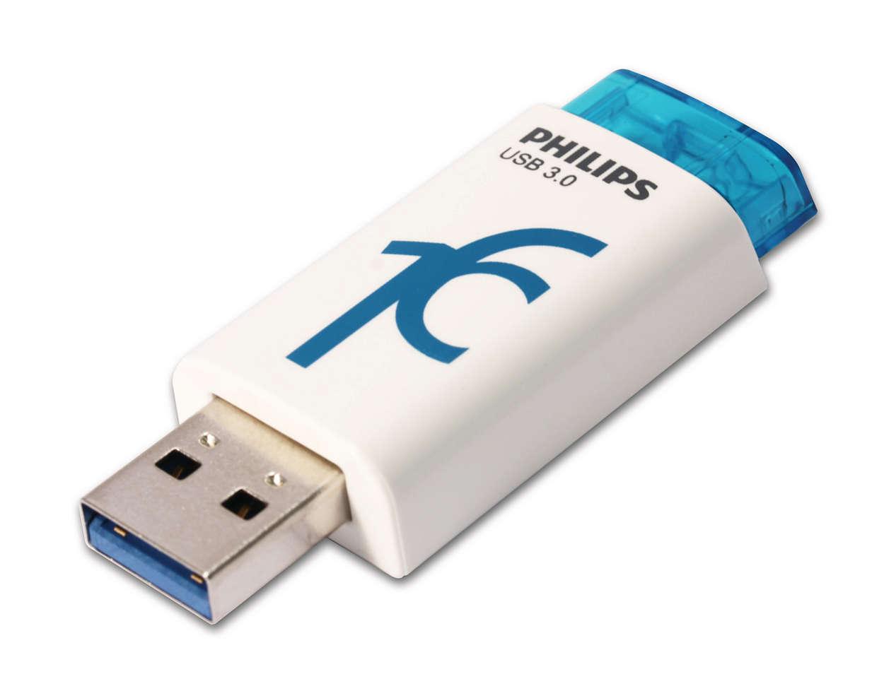 Usb Flash Drive Fm16fd65b 97 Philips Flasdisk