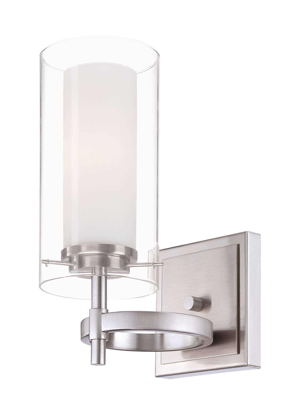 Hula 1-light wall sconce in Satin Nickel finish