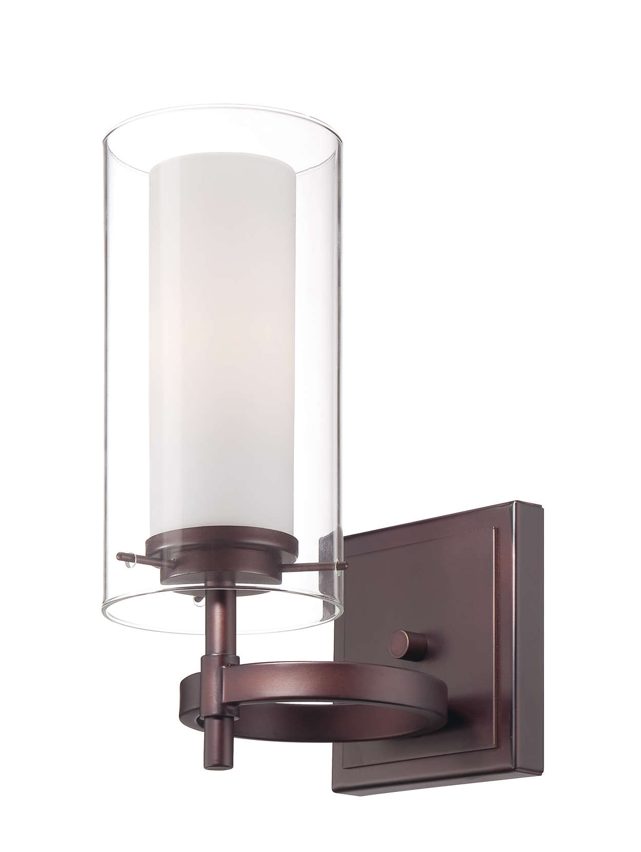 Hula 1-light wall sconce in Merlot Bronze finish