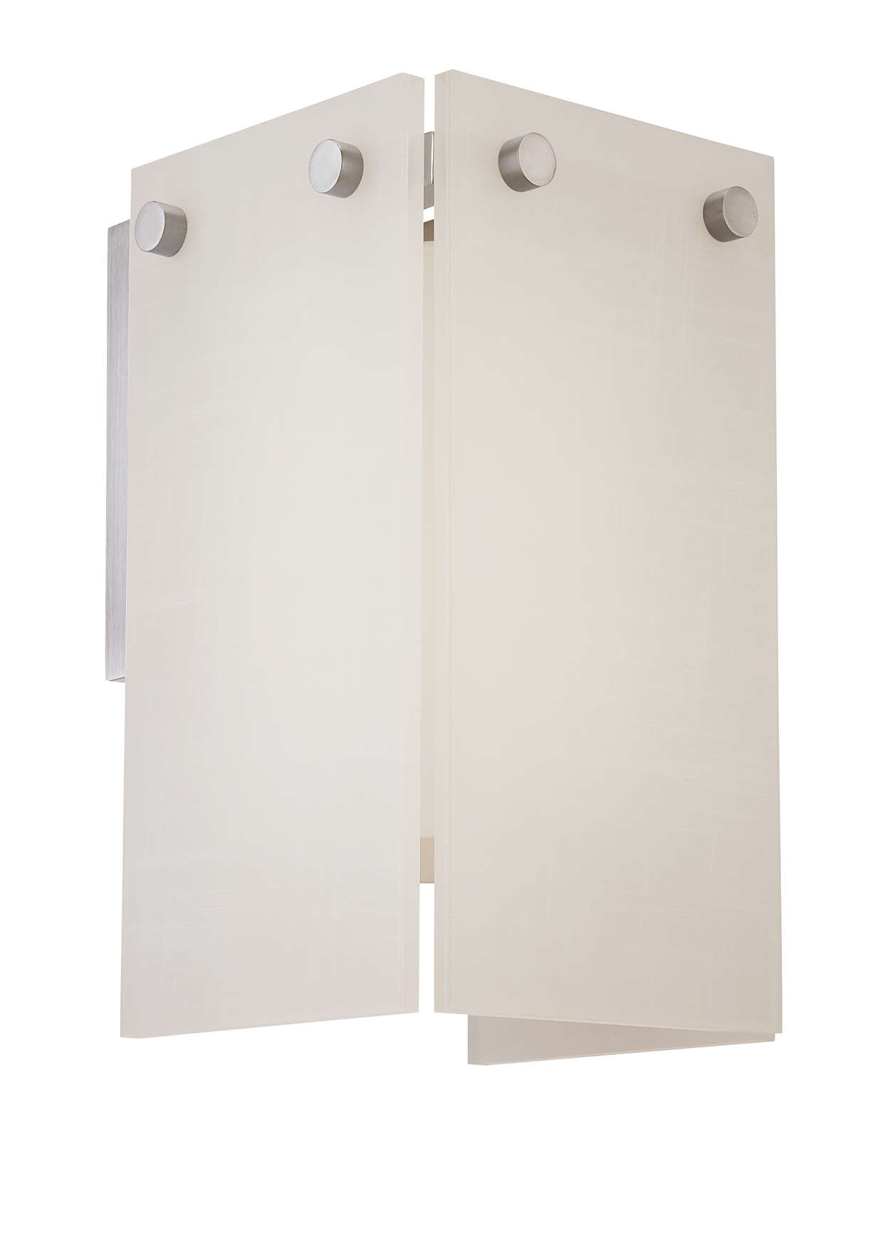 Ecoframe 1-light wall sconce, Satin Nickel finish