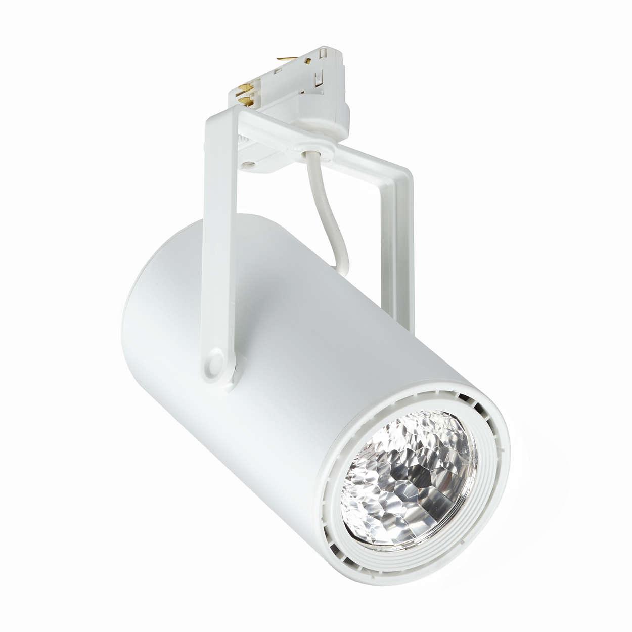 Een flexibele enefficiënte LEDprojectorvoor de detailhandel
