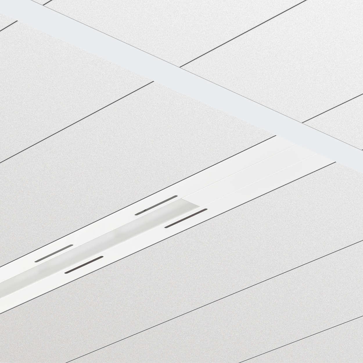 TrueLine, inbouw - Een echte lichtlijn: elegant, energiezuinig en in overeenstemming met kantoorverlichtingsnormen