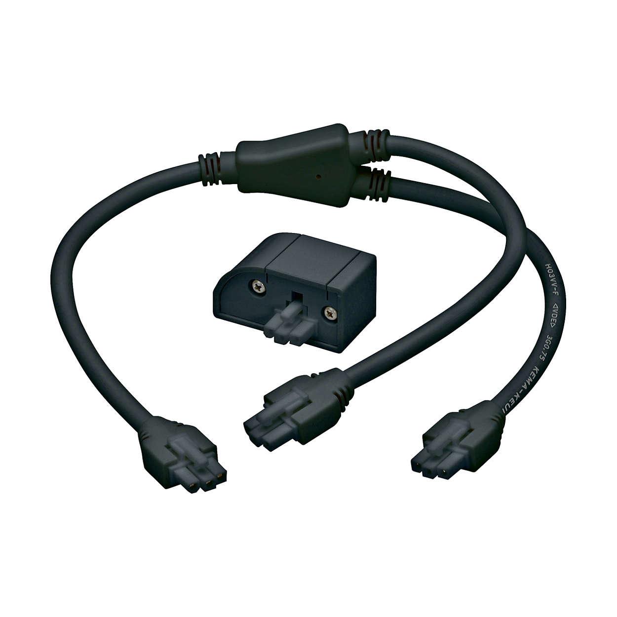 eW Profile Powercore – это ультра-плоский LED-светильник с диодами белого света для подвесного размещения под стеллажами