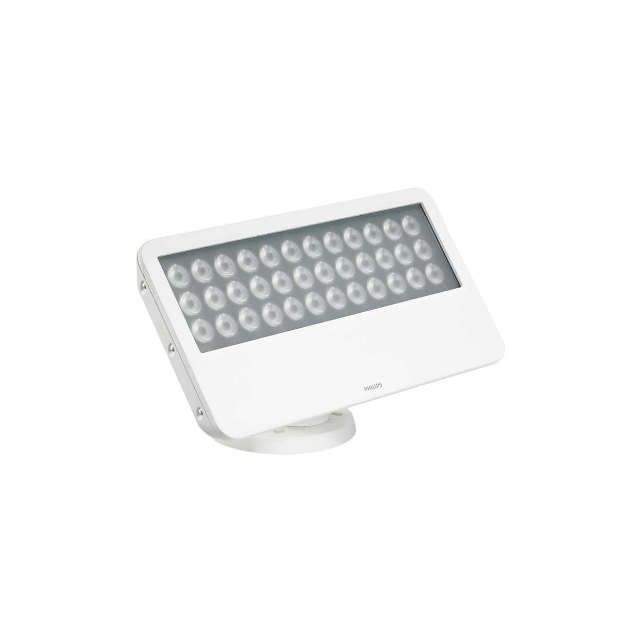 L'apparecchio leader al mondo di illuminazione wall-washing LED per esterni con luce a colori uniformi