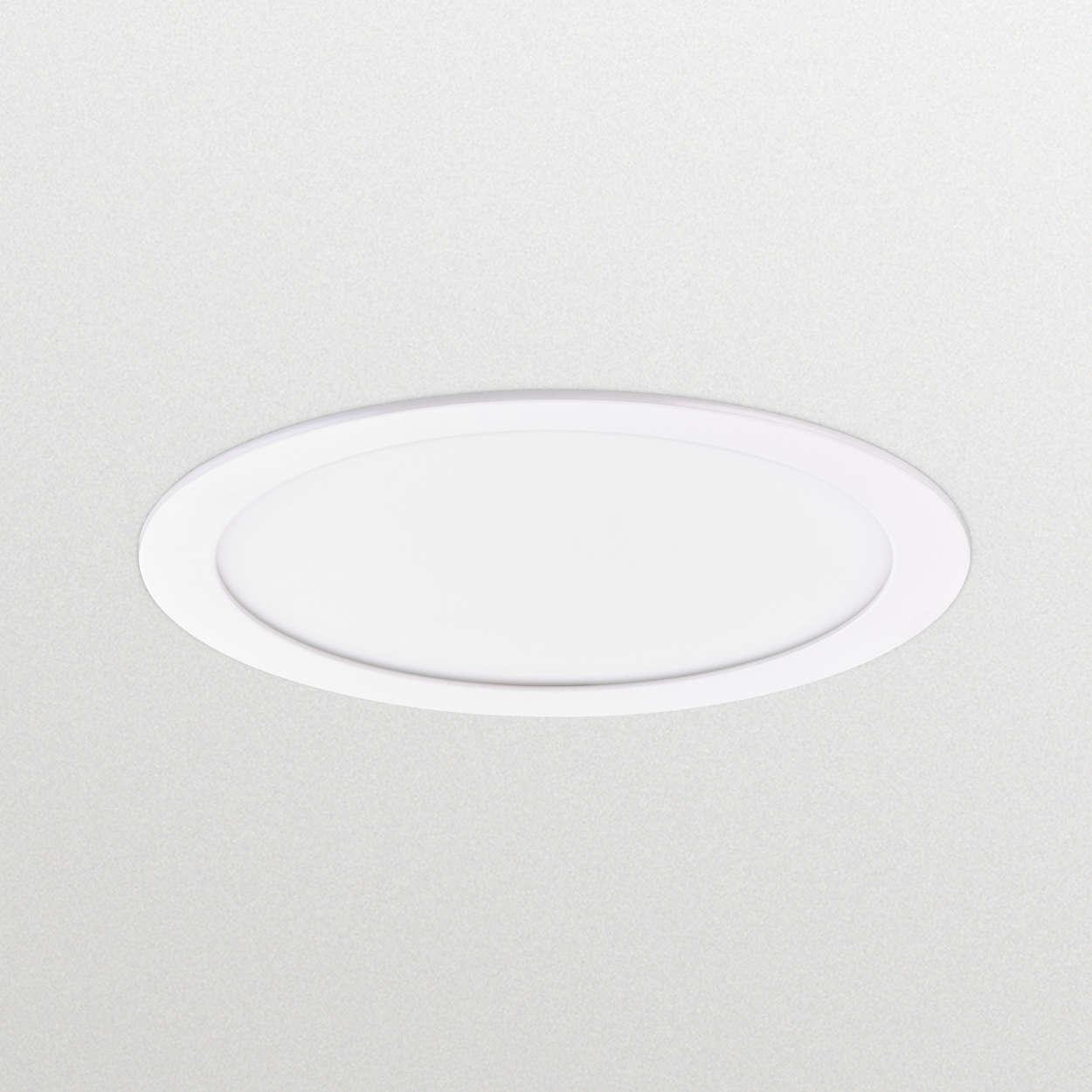 CoreLine SlimDownlight - la opción clara de LED