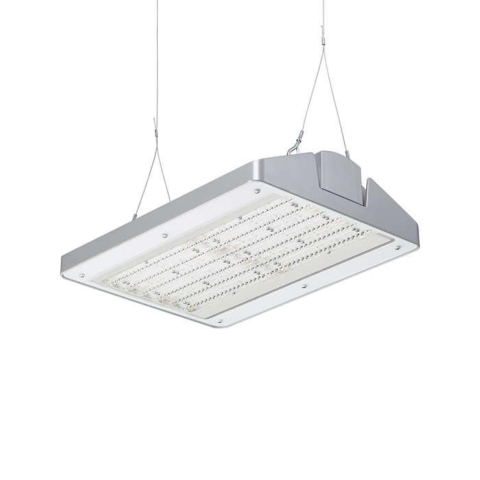 GentleSpace 2 – de nieuwe norm in verlichting van industriële ruimten met hoge plafonds, die functionaliteit combineert met vormgeving