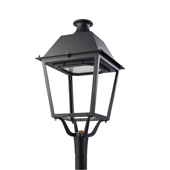 Korhű lámpatest a történelmi városrészekbe