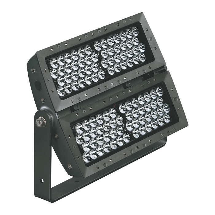 eColor Reach Powercore – proiector cu LED de calitate superioară, compact, pentru exterior, cu proiectare la distanţe mari, cu lumină colorată inteligentă