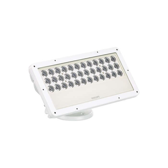 ColorBlast IntelliHue Powercore gen4 —inteligentnyprojektor oświetlenia architektonicznego wykorzystujący technologię IntelliHue