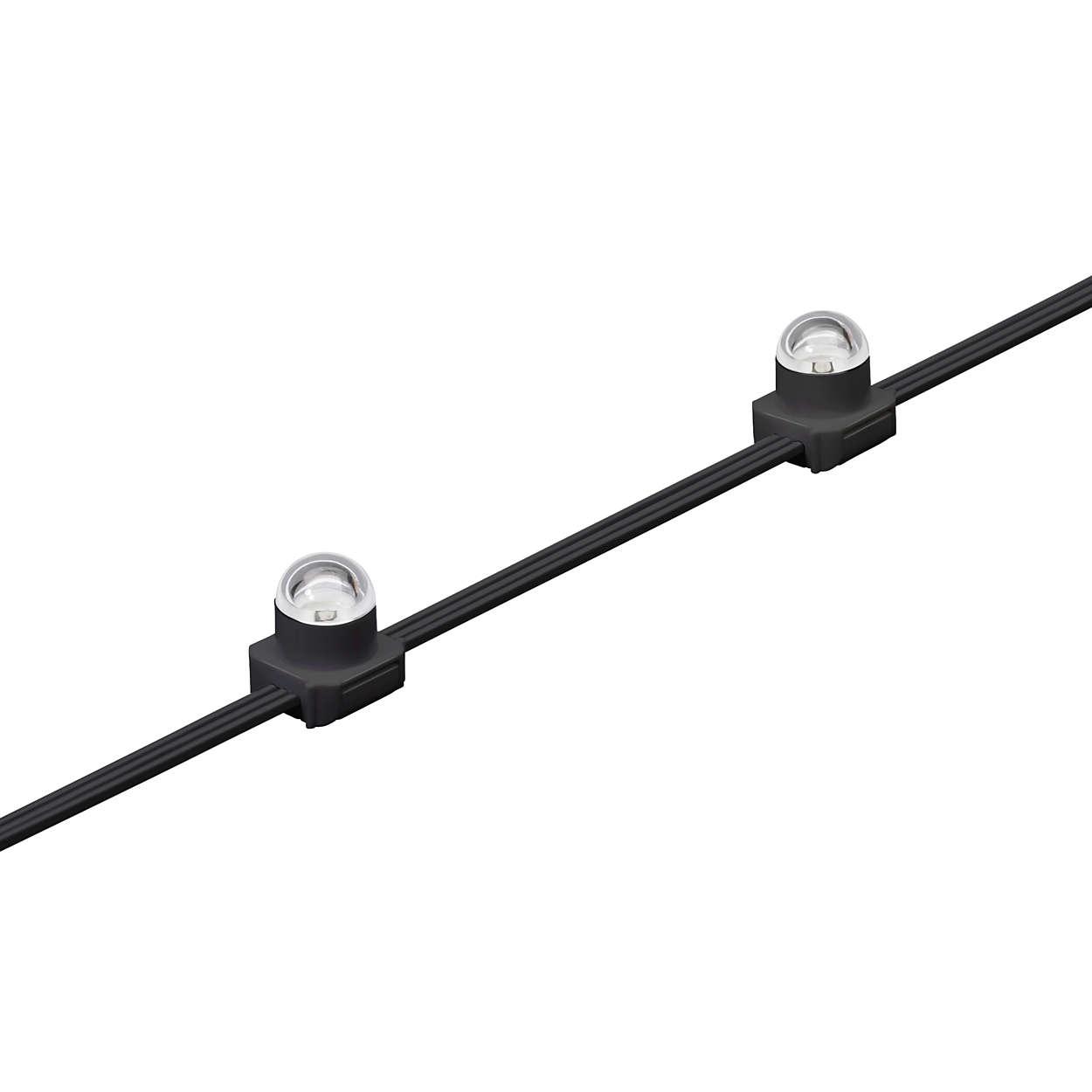 eW Flex Micro - Flexible Stränge kleiner LED-Knoten hoher Intensität mit solidem Weißlicht