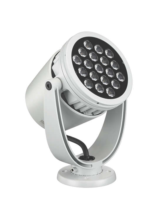 Architectural LED spotlight with intelligent white and color light
