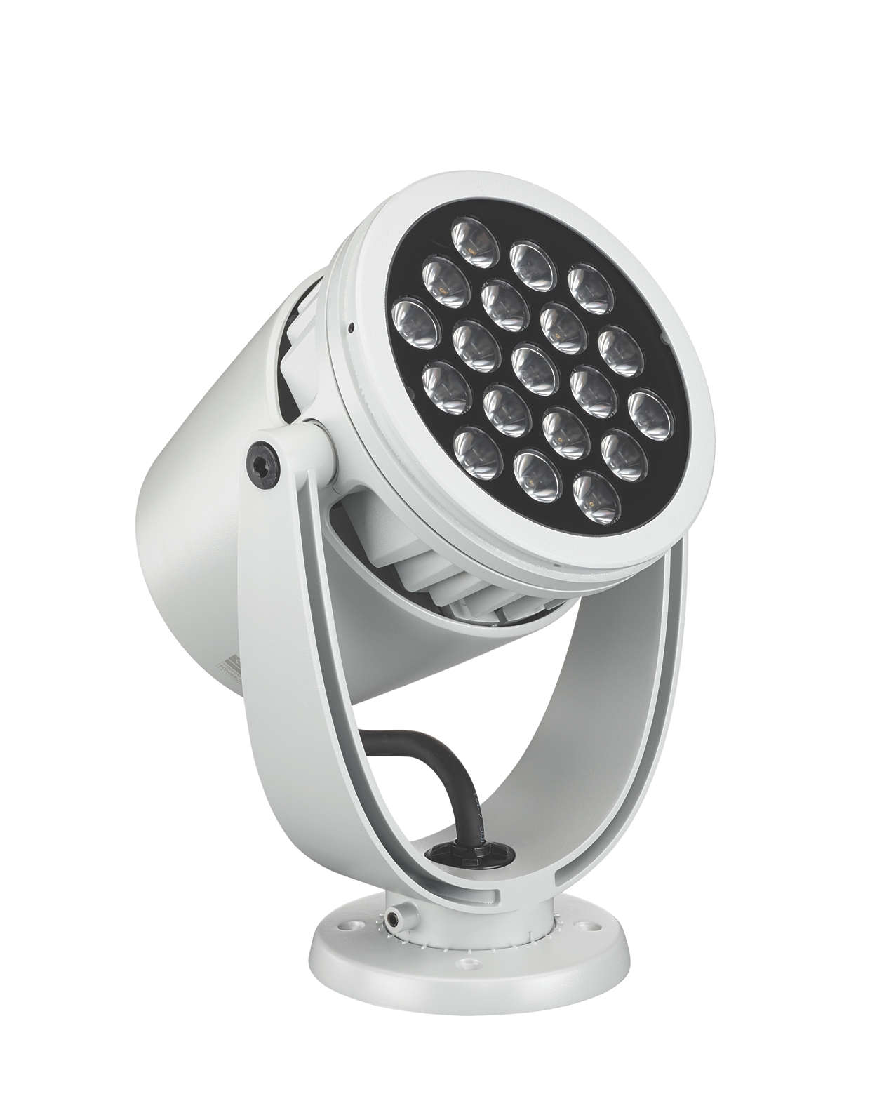 Exterior architectural and landscape spotlight with intelligent RGBA or RGBW light