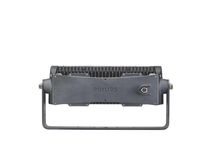 ColorReach Compact Powercore four channel floodlight LED fixture back view