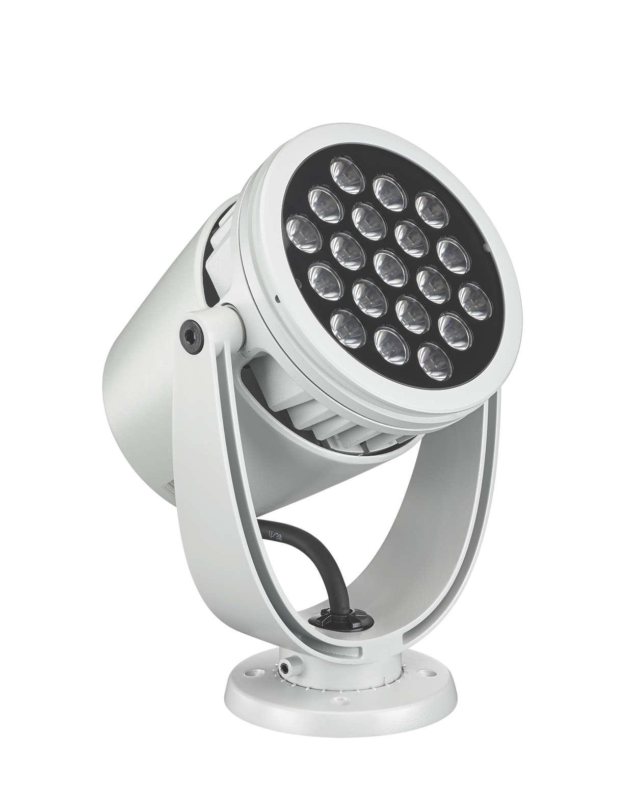 LED-spotbelysning av arkitektur med intelligent fargelys