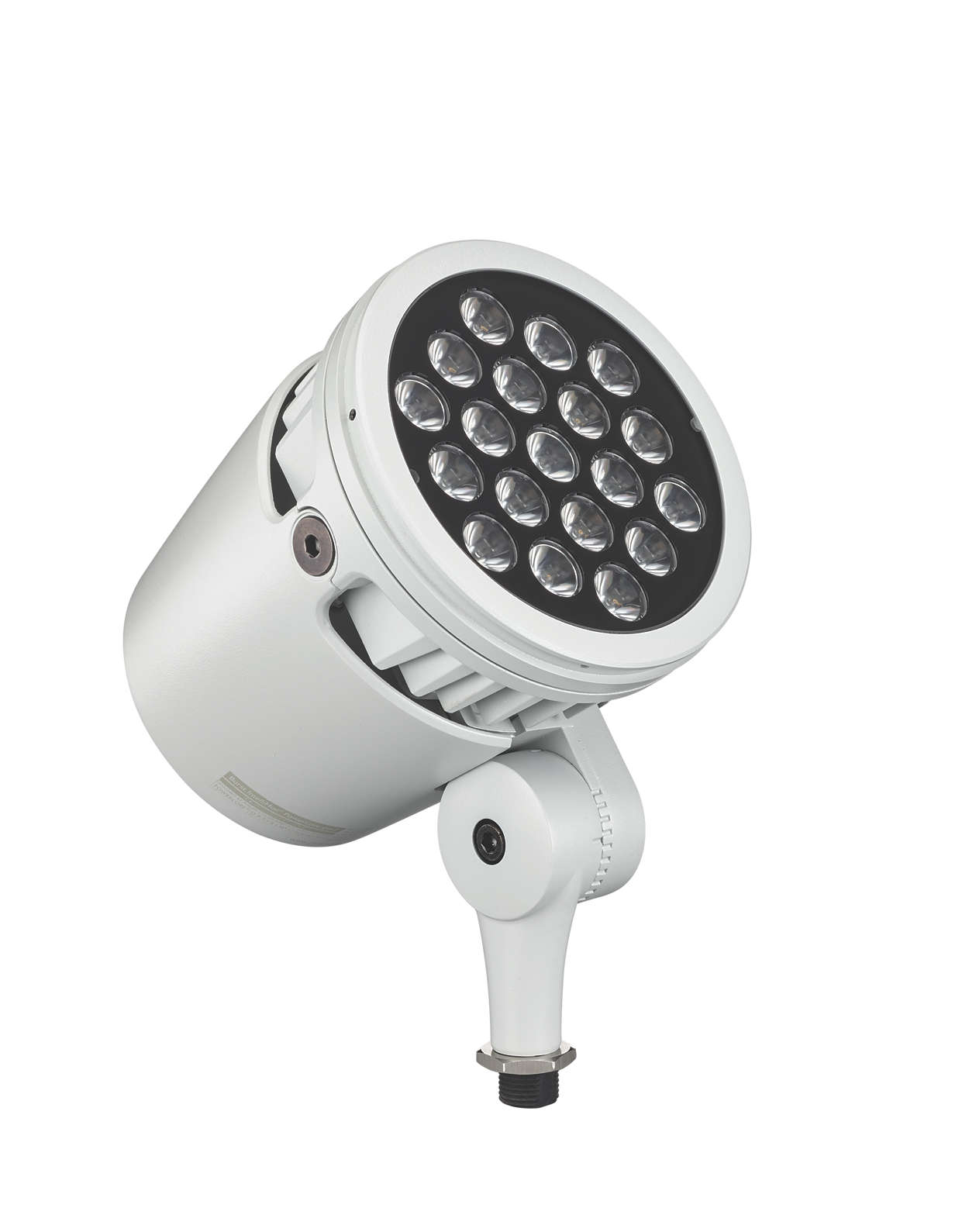 Architectural LED spotlight with intelligent white and colour light
