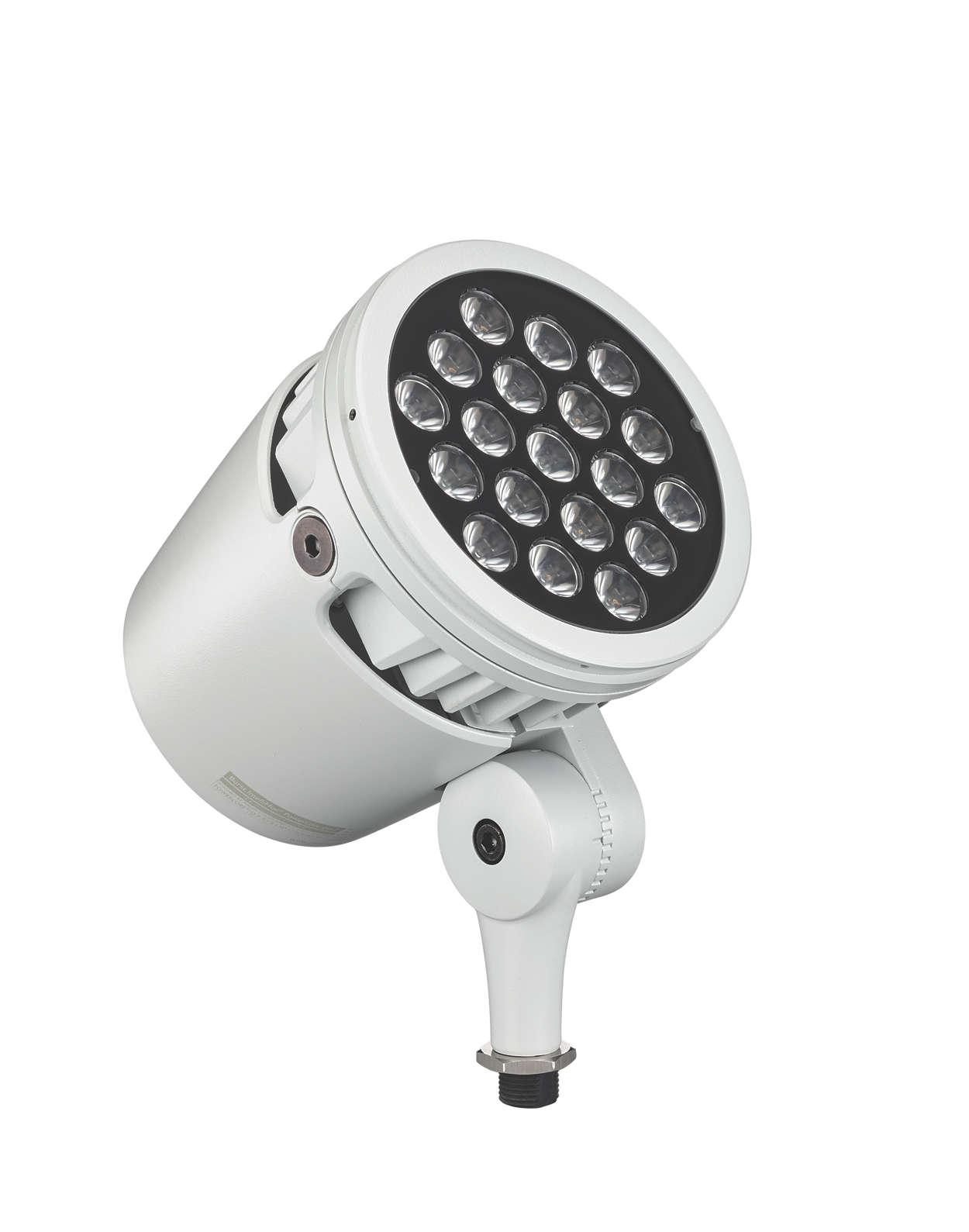 Arkitektonisk LED-spotlight med intelligent vitt och färgat ljus