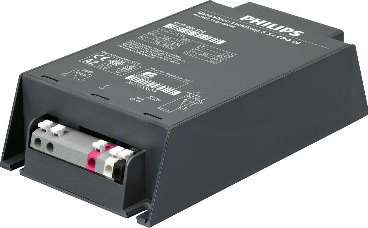 HID-DynaVision LumiStep Xtreme pro světelné zdroje CPO – integrované jednokrokové stmívání umožňující snadné úspory nákladů