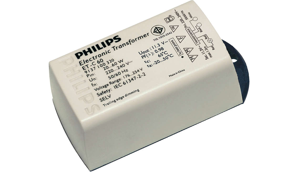 Certaline - An extremely compact electronic transformer for 12V halogen lamps
