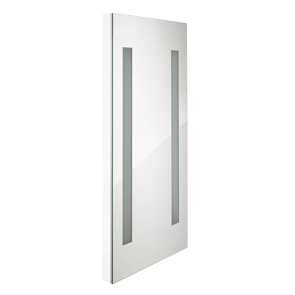 AmbiScene Fashion Mirror Seasons – Miroir pour cabine d'essayage avec un éclairage que les utilisateurs peuvent adapter en fonction de la saison