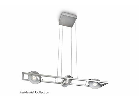 PARTICON pendant aluminium 3x6W SELV